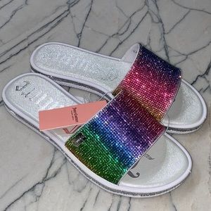 Juicy Couture Yummy Sandal Slides NWT